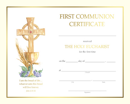first communion certificate template free catholic first communion certificate template images certificate