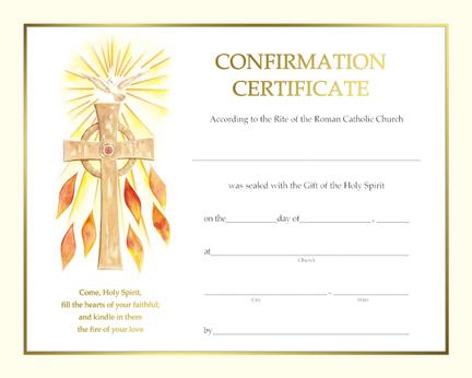 Holy family catholic parish resources for Catholic confirmation certificate