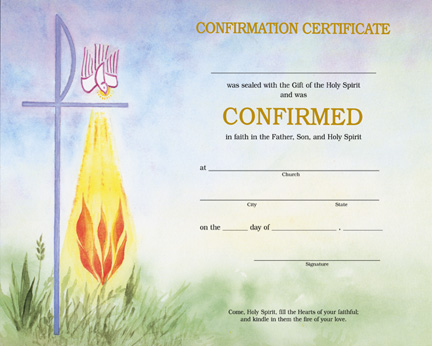 Holy family catholic parish resources for Free catholic confirmation certificate template